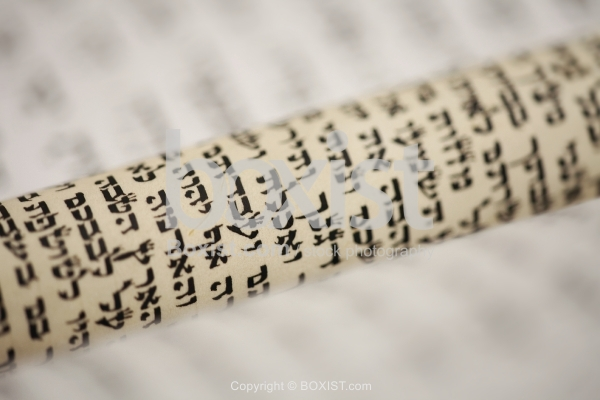 Rolled Scroll With Hebrew Text