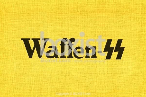 Waffen SS Symbol Printed On Yellow Fabric