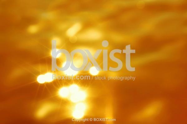 Shiny Golden Bokeh Water