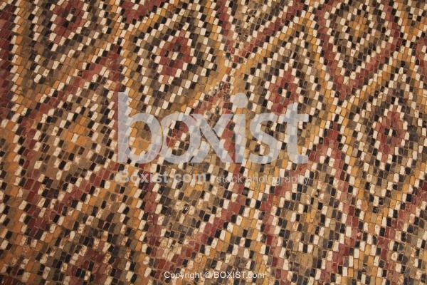 Ancient Colored Mosaic Diamond Grid Patterns