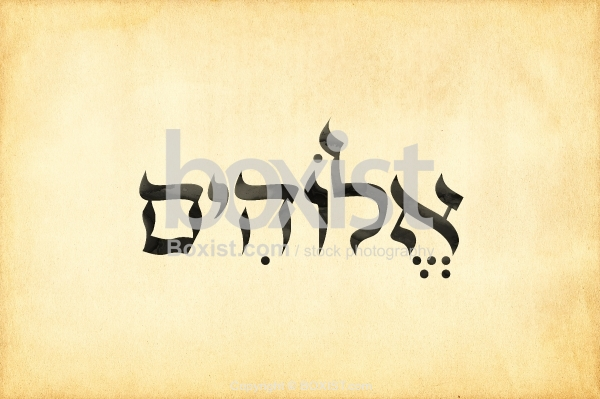 The Hebrew Name For God Elohim