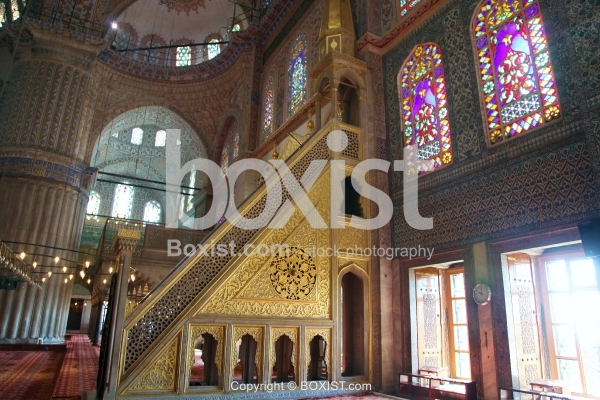 The Minbar Of The Blue Mosque