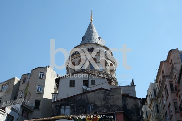 Top of Galata Tower in Istanbul City