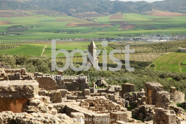 View Over The Punic Libyan Mausoleum At Dougga