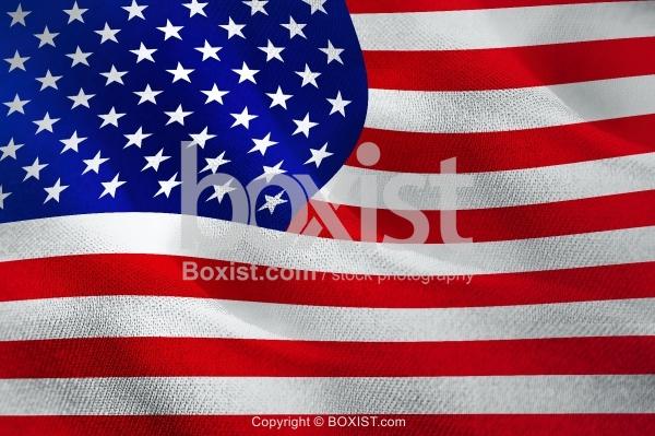 American Fabric Wavy Flag