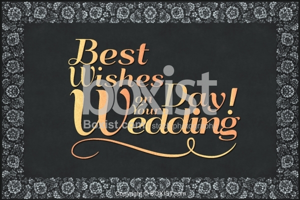 Best Wishes On Your Wedding Day Greeting Card Design