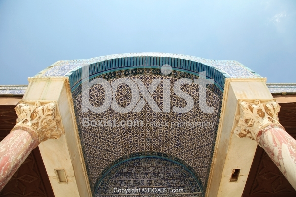 Interior Tiles of Dome of the Rock Gate
