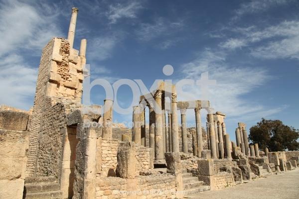 Old Columns In Dougga