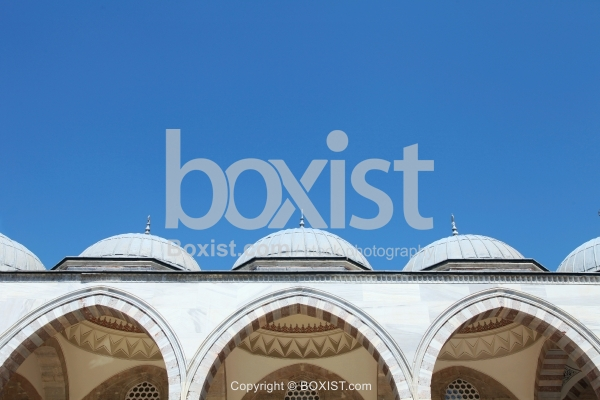 Small Domes and Arches at the Courtyard of the Suleymaniye Mosque