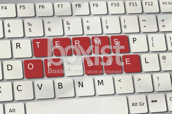 Terms of Use On Keyboard Buttons