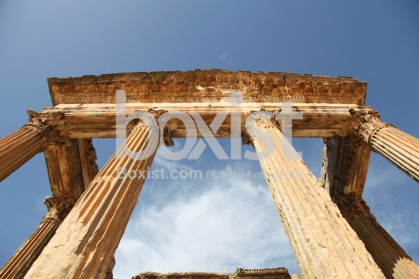 The Capital Of Dougga From Under