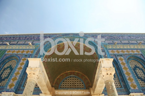 The Western Door Arch of Dome of the Rock Mosque