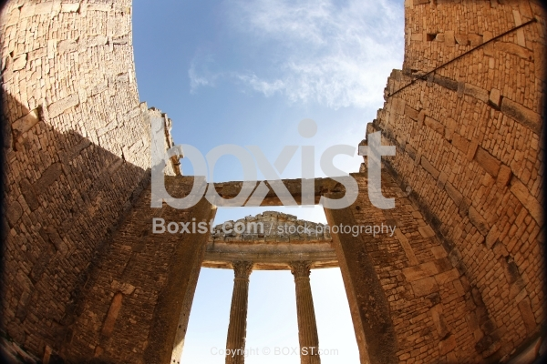 View From Inside the Capital Building of Dougga