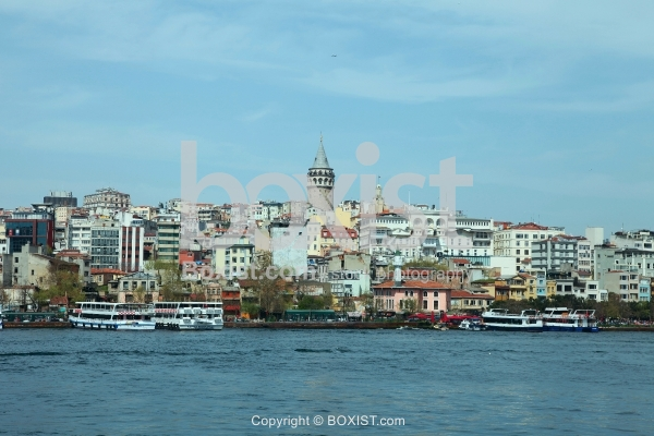 Karakoy and Galata Tower of Istanbul from the Bosphorus