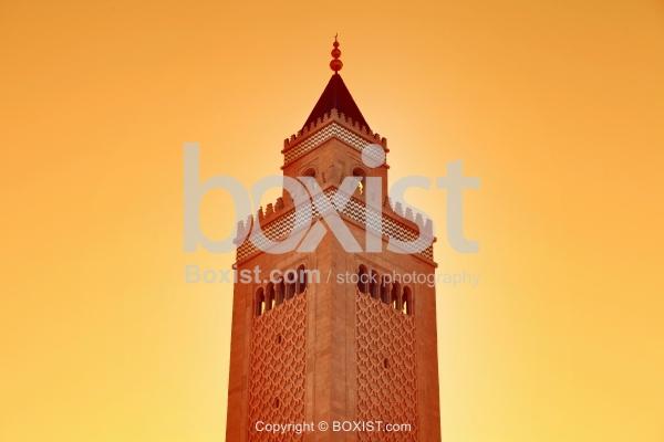 North African Mosque Square Minaret