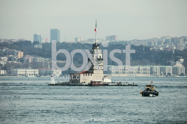 View Of Maiden Tower In Istanbul City