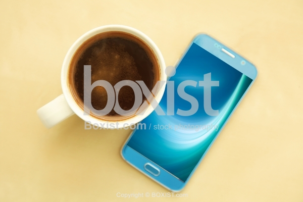 Coffee Cup And Mobile Phone