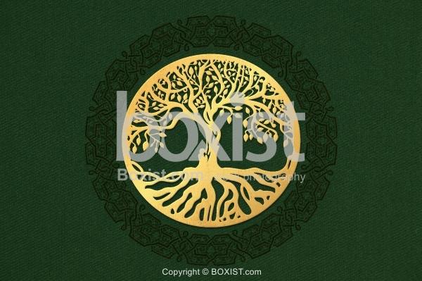 Golden Tree Of Life Design