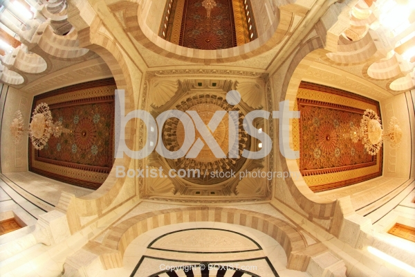 Arched Ceiling Of Mosque From Under