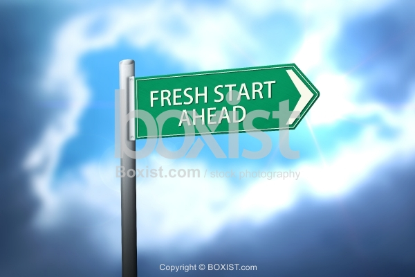 Fresh Start Ahead Sign