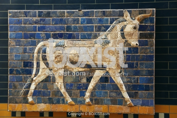 Auroch from Ishtar Gate at Babylon by the King Nebuchadnezzar II