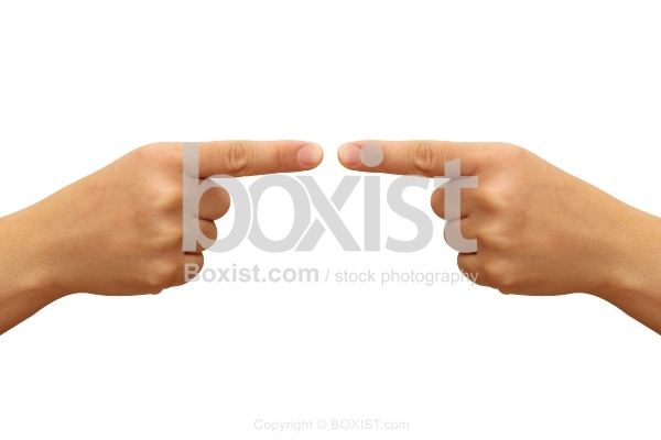 Two Hands Pointing Isolated on White Background