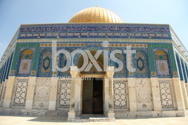 The Facade Of Dome Of The Rock Mosque