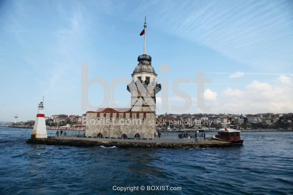 The Famous Maidens Tower On The Island In Istanbul
