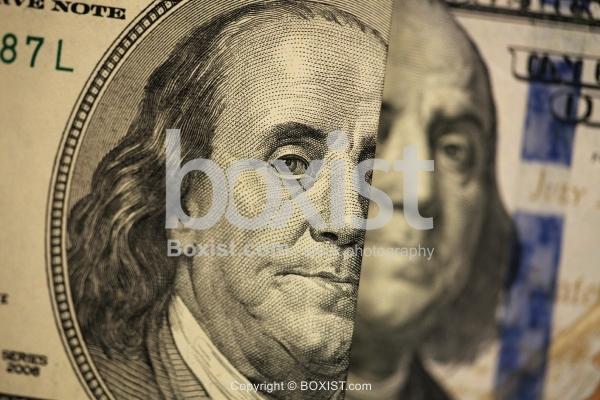 Benjamin Franklin Portrait on Old and New Hundred Dollars