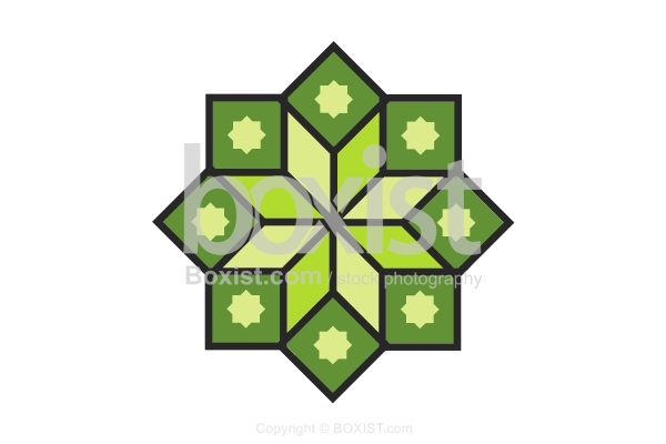Simple Geometric Arabesque Star