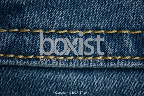 Closeup Denim Jean Stitch