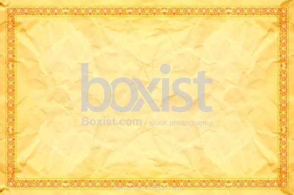 Crumpled Paper Texture with Ornamental Border