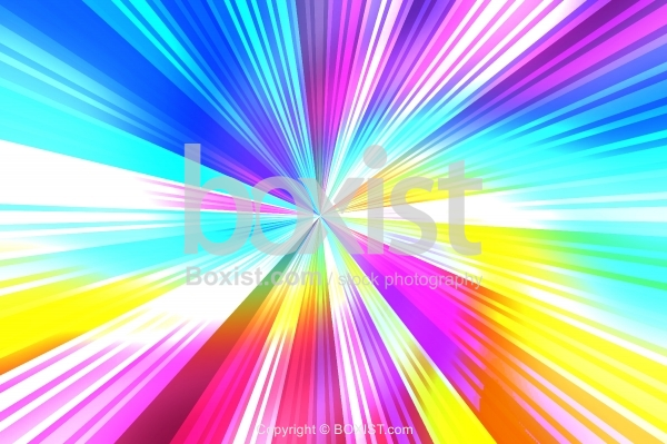 Abstract Burst Colored Stripes