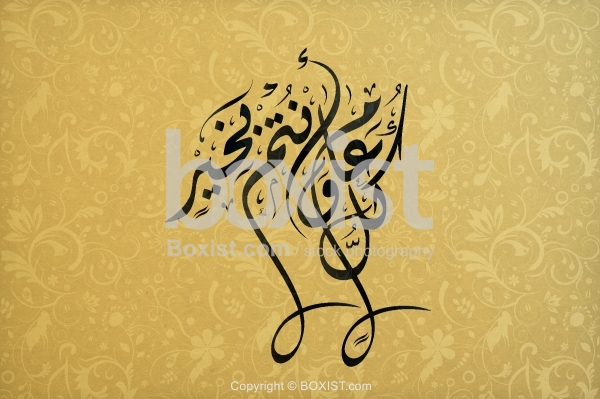 Every Year And You Are Fine In Arabic Diwani Calligraphy