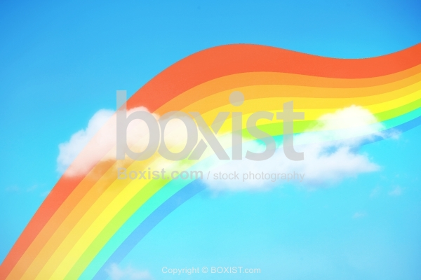 Rainbow And Clouds Concept Design