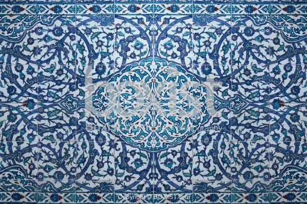 Handmade Iznik Arabesque Tiles At Topkapi Palace