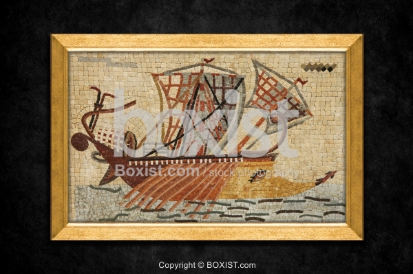 Fisherman Boat Mosaic