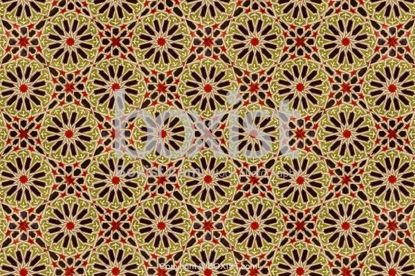Seamless Geometric Arabesque Ceramic Tiles Background