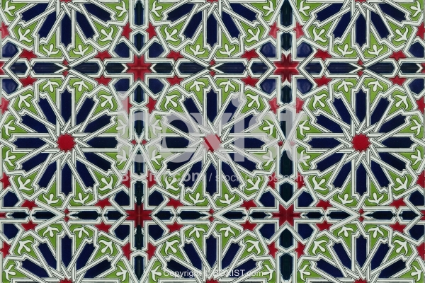 Arabesque Colored Patterned Ceramic Tiles