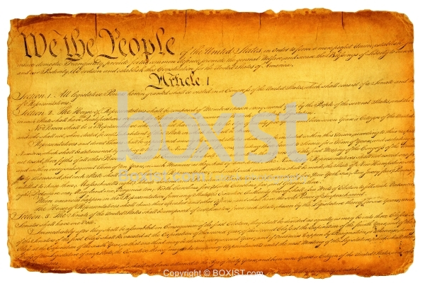 United States Constitution On Parchment Old Paper