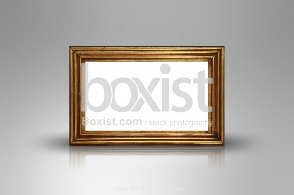 Vintage Wooden Frame With Blank Space