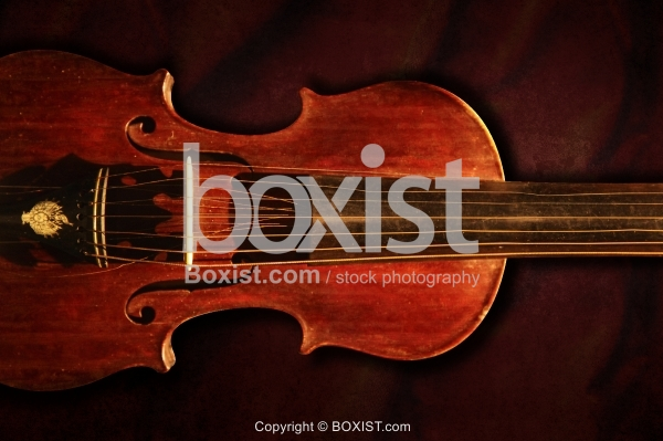 Old Wooden Vintage Violin