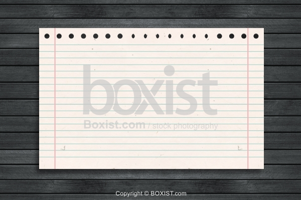 Lined Paper On Wood Background
