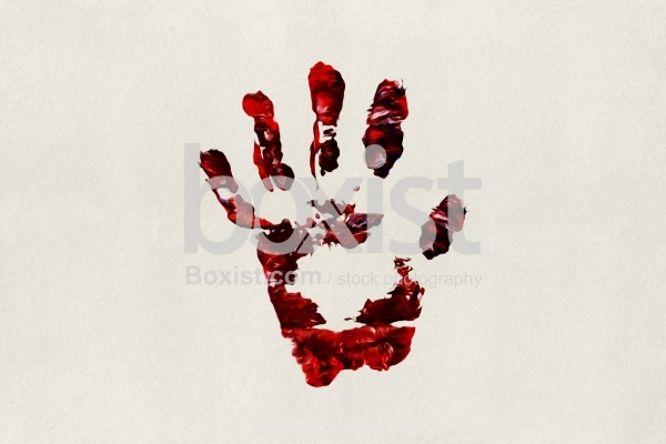 One Red Handprint