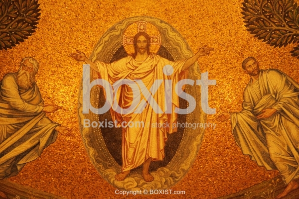 Jesus With Open Arms Mosaic