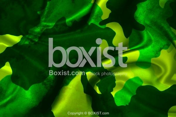 Wavy Silk Green Camouflage Texture