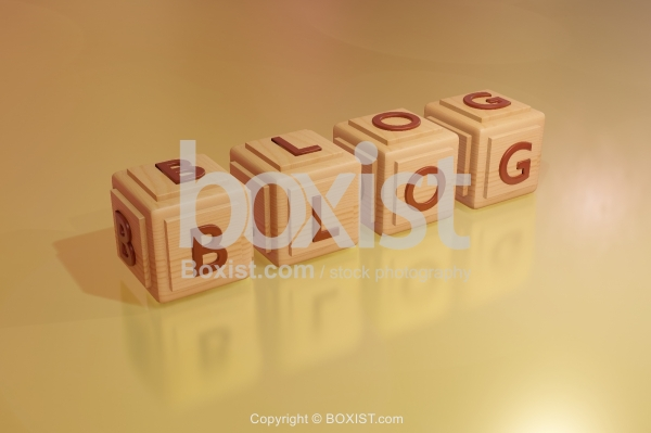 Blog Wooden 3D Cubes.
