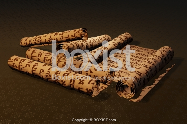 Collection Of Hebrew Ancient Scrolls