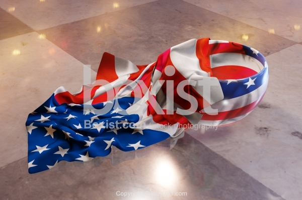 American Flag Cup With Cloth Napkin