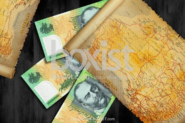 Australian Map and Money